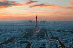 Le Coucher et la Tour (Tommaso Renzi) Tags: sunset summer paris tower tour toureiffel montparnasse parigi visipix