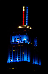 Empire State Building, election night (gsz) Tags: nyc newyorkcity election manhattan esb empirestatebuilding presidentialelection bluestate barackobama 2012presidentialelection
