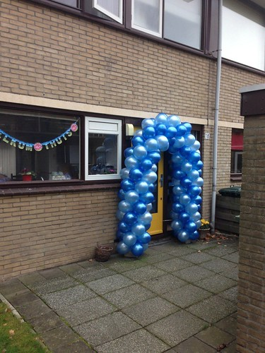 Ballonboog 5m Blauw met Lichtblauw