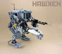 HAWKEN CR-T Recruit (curtydc) Tags: lego assault creation scifi rocket tow mechwarrior mecha mech launcher moc hawken tvmech