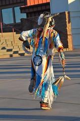 Monument Valley - Navajo dancer 3 (Charlotte Clarke Geier) Tags: sunset flags navajo shelter hogan monumentvalley mexicanhat themittens interiorlog dancerthe