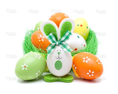 Easter bunnies and eggs (imagesstock) Tags: summer orange white holiday cute rabbit green animal yellow closeup easter season spring holidays paint cartoon decoration straw craft happiness nopeople celebration event whitebackground celebrations decorating gift bow bunch eggs ribbon cheerful multicolored ideas 兔子 arrangement isolated birdsnest homeimprovement easterbunny easteregghunt traditionalculture concepts easteregg easterdecoration babyrabbit 蛋 designelement 复活节 isolatedonwhite celebrationevent animalnest animalegg