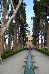 Central Water Channel and Main Entrance (Khan-e Sardar) (Alan Cordova) Tags: iran kashan 2014 fingarden isfahanprovince kashaniran march2014 march62014 iran2014