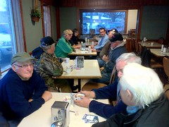 Monte hosts a community coffee shop meeting in Mt. Brydges