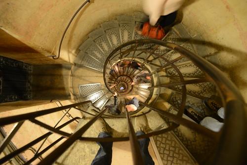 Top of the climb up Arc de Triomphe