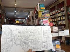 La Rochelle, une journe de mai  la librairie Les Saisons (Croctoo) Tags: boutique crayon larochelle ville croquis librairie charentemaritime poitoucharentes croctoo croctoofr
