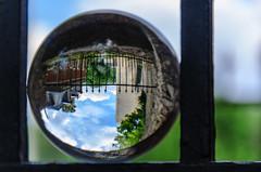 Pebrunntor im Herzogspark // Mit der Kugel durch Regensburg (seyf\ART) Tags: park garden town stadt refraction regensburg ratisbon crystalball glaskugel