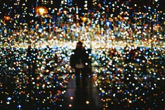 untitled. (rwed) Tags: light art film souls lights colours infinity room kunst installation mirrored t5 yashica yayoi millions the kusuma