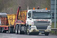 DAF CF Skip Loader GB Cullet Ltd YD62 SKF (SR Photos Torksey) Tags: road truck transport lorry commercial vehicle loader skip freight cf logistics daf haulage hgv lgv cullet