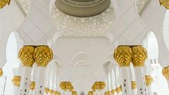 Columns in the Cloister (Bartholomew K Poonsiri) Tags: white building islam religion uae middleeast wideangle mosque structure abudhabi sheikhzayedgrandmosque sonyepz1650mmf3556oss sonyilce6000