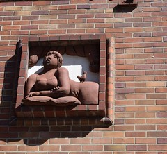 Rostock Germany.  A terracotta busty woman. (Anne David 2012) Tags: germany rostock terracottabustywoman