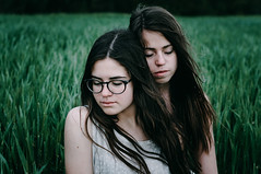 Tenderness (Alex Karamanov) Tags: friends light portrait people black color art nature girl field grass contrast landscape seaside mood friendship outdoor atmosphere indoor her melancholy crimea tenderness feelings vsco