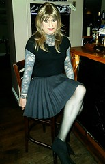 Back in the Pub (Amber :-)) Tags: skirt crossdressing tgirl charcoal short transvestite sunray