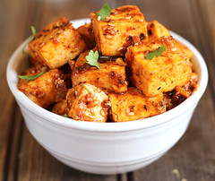 Honey Sriracha Tofu (kushigalu) Tags: food dinner lunch vegan yummy starter delicious vegetarian brunch appetizer spicy foodie nomnom