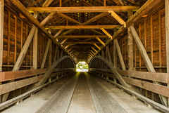 Interior View (Back Road Photography (Kevin W. Jerrell)) Tags: bridge rural virginia wooden country historic inside shenandoahriver coveredbridges interiorview mountjackson nikond60 ruralphotography backroadphotography