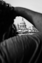 embrace the photo (jaumescar) Tags: street city bw white black london vertical canon photo photographer arm cathedral working perspective picture stpauls tourist professional dome frame pow taking lightroom