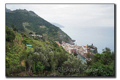 Tucked Away Along The Coast (seagr112) Tags: italy boats harbor europe outdoor hill hike trail olives cinqueterre mountainside hillside vernazza olivegrove mediterraneansea