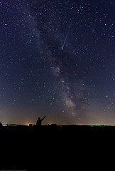 County Line Galaxy (Jessie Chaisson) Tags: portrait jessie night self pose way photography star nikon long exposure time country sigma galaxy shooting milky meteor chaisson