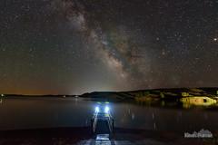 Lit Dock (kevin-palmer) Tags: milkyway galaxy night sky stars starry astronomy astrophotography june summer nikond750 tokina1628mmf28 water reflection lakedesmet dock light wyoming astrometrydotnet:id=nova1627287 astrometrydotnet:status=failed