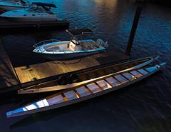 Gold and blue (vinodjohnson) Tags: boats boston seaport