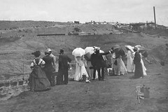The Premier Mine - the people with the money (peet-astn) Tags: southafrica people 1900s victorian umbrella thepremiermine pretoria gauteng