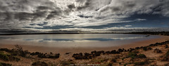 Lake Gillies Panorama (johnwilliamson4) Tags: clouds kimba lakegillies landscape panorama water reflections southaustralia australia