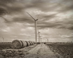Where the Winds Prevail (A Anderson Photography, over 1 million views) Tags: windpower canon turbines windturbines clouds stormy