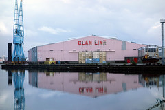 Reflections from Birkenhead Docks- The Clan Line (sab89) Tags: from docks reflections line birkenhead clan the