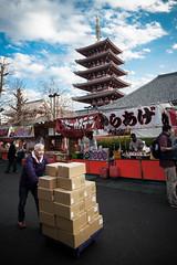 Grandeur et labeur (www.danbouteiller.com) Tags: japan japon japanese japonais city ville urban tokyo ueno castle temple shrine shinto market march stand people working canon canon5d eos 5dmk2 5d 5d2 5dm2 samyang samyang14mm