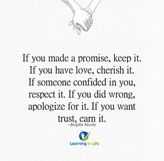 Earn It (learninginlife) Tags: respect trust promise cherish earn apologize confided