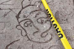 E9thSt (47) (ShellyS) Tags: nyc newyorkcity manhattan eastvillage cautiontape sidewalk graffiti streets sidewalks