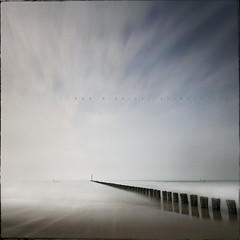 Going The Distance (Midnight - Digital) Tags: longexposure sea sky seascape holland beach water pier seaside sand exposure horizon zeeland netherland nd distance dutchland