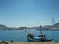 Bozburun (VillaRhapsody) Tags: trip blue sea boat dock village view aegean seafront quai bozburun challengeyouwinner