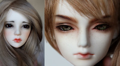 Mix (Mjusi) Tags: boy red hot cold color cute guy girl glitter hair nose eyes pretty head teeth makeup victoria lips redhead stare bjd frances commission eyebrows thick unoa faceup pastells mjusi mjusih