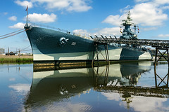 USS North Carolina (snapdragginphoto) Tags: clouds day cloudy gator alligator northcarolina worldwarii wilmington ussnorthcarolina capefearriver carolinablue