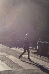 Morning Haze (Smith-Bob) Tags: street city people woman sun sunshine silhouette crossing candid earlymorning sunny melbourne brightlight lane heels cbd laneway hazy melburnians wonderfulmelburnians