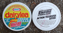 1980 KRAFT UK Dairylea Cheese Spread Box Star Wars ESB Transfers (gregg_koenig) Tags: uk cheese star spread back box 80s esb empire wars 1980 1980s strikes kraft transfers dairylea