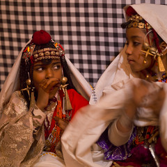 Ghadames Tuareg girls in traditional dress, Libya (Eric Lafforgue) Tags: africa color sahara square kid child singing northafrica decoration unescoworldheritagesite berber libya multicolor jewel multicolour bedouin middleeastern ghadames libia libye libyen colorpicture lbia italiancolony libi 1011years libiya tripolitania  ribia liviya ghadamis gadhames libija colourpicture       lbija  lby  libja lbya liiba livi  a0013247 ghadamsi