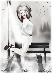 ~Cat Lady :: Purrrrrfect~ (Clix Renfew ) Tags: beautiful digital pose dark model photographer avatar id secondlife trasognoerealta jesylilo clixrenfew loovusdzevavor creativeimageryphotography
