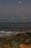 moonset (bluewavechris) Tags: ocean sea sky moon beach water clouds dawn hawaii scenic maui fullmoon moonset lanai daybreak