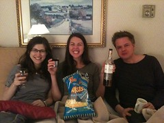 Whiskey, popcorn twists, and Glee - well spent night off