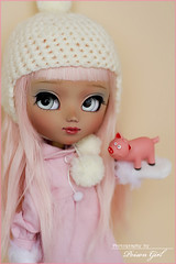 Macaroon - Pullip Nahh Ato custom (-Poison Girl-) Tags: new pink blue white girl shirt hair pig eyes eyelashes makeup fringe macaroon wig groove pullip poison bangs custom pullips poisongirl customs faceup eyechips junplanning nahhato rewigged pullipcustom rechipped nahhatocustom pullipnahhatocustom