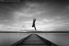 The Leap of Faith (Nguyen Huu Thanh Hai) Tags: seattle portrait sky white lake black water monochrome washington long exposure mtbaker seft