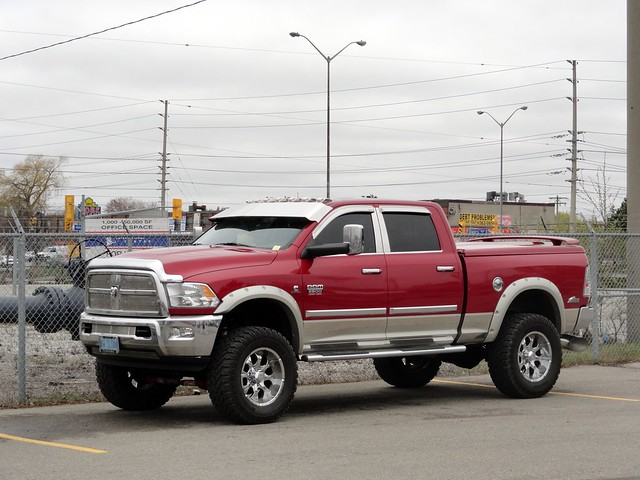 ontario canada monster truck chrome dodge ram 2500 2012 jacked 2011 truckworld