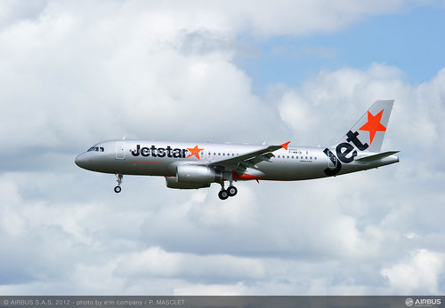 Jetstar Japan's first Airbus A320 aircraft departs for Tokyo, Japan from Toulouse, France