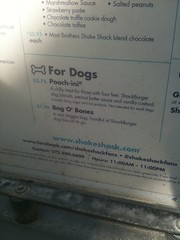 even food for your dog (derekb) Tags: dog ny newyork shakeshack