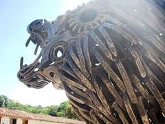 Steel Lion (Clanaty) Tags: sculpture metal colombia lion escultura leon santander barichara
