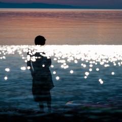 deep surface (Vasilis Amir) Tags: shadow sea portrait woman abstract blur beach water girl silhouette experimental doubleexposure  abstractportrait vasilisamir