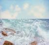 . (Catherine...) Tags: blue sea sky mer water clouds mar diptych rocks eau waves bleu ciel nuages diptyque vagues rochers diptico artlibre 1j1p