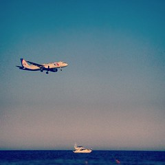 Airplane Or Boat? (steliosgiorgio) Tags: sea sky beach square airplane boat nashville cyprus squareformat larnaca larnaka   iphoneography instagramapp uploaded:by=instagram foursquare:venue=4fc86e50e4b0adae399a8d2f